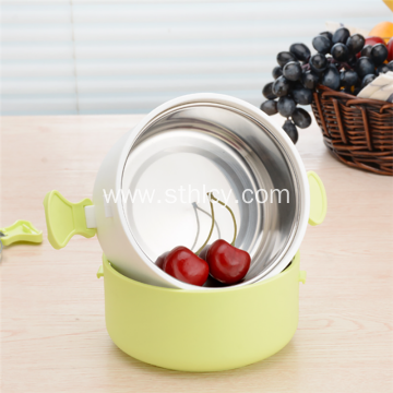 Promotional Portable Stainless Steel Compartment Lunch Box