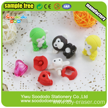 shaped erasers monkey sets back to school stationery