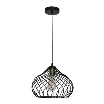 Black Metal Mesh Cage Shade Pendant Light