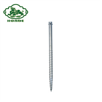 Galvanized Ground Screw Anchors In Metal Ground Spike
