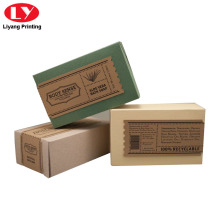 Brown Kraft Paper Box Soap Packaging