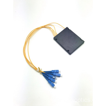 New Arrival for China PLC Box Splitter,Optical Cord Splitter,ABS Splitter Manufacturer and Supplier PLC 1*4 ABS BOX splitter sc upc connector supply to Uganda Wholesale