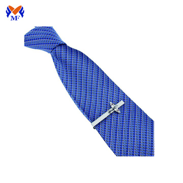 Metal airplane tie clip on tie mens