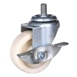4inch white PP Swivel Caster with brake
