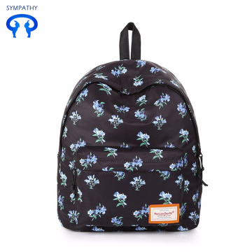 Printed backpack women's backpack college style bag