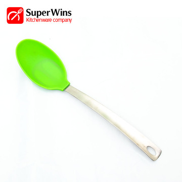 High Heat Resistant Kitchen Utensils Silicone Soup Spoon