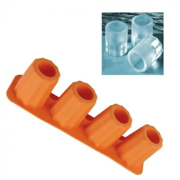 silicone long ice cube tray shapes