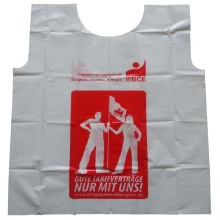 New Delivery for for Mesh Safety Vest Hot Sale Plastic PE Advertising Vest Strike Vests export to Spain Factory