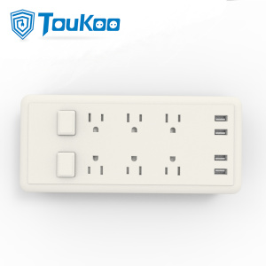 Super Purchasing for 6 Gang Power Strip American 6 outlet power strip with USB Charger export to Japan Factories