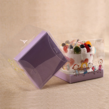 Clear plastic mini cake box
