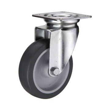 4 inch plate casters with TPE wheel