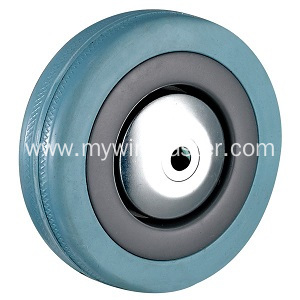4'' Bolt Hole Grey Rubber Caster with Brake