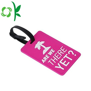 Promotional Silicone Cute Tags with Luggage