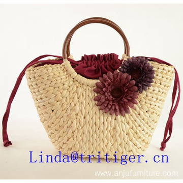 Summer Vintage Rattan Straw Knitted Bag Handbag