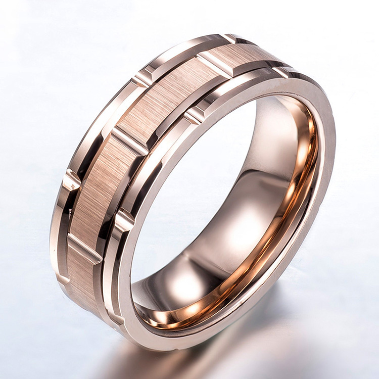 Engraved Tungsten Wedding Rings