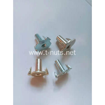 Carbon Steel Zinc Plated 4 Prongs T-Nuts
