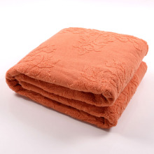 Customized for Towel Blanket High Quality Extra Large Orange Towel Blanket export to Spain Supplier
