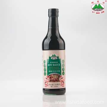 500ml Glass Bottle Mushroom Dark Soy Sauce