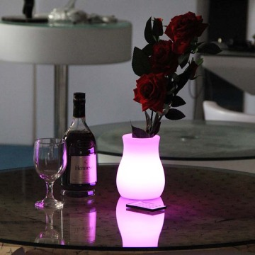 Decorative LED Flower Pot for Hotel Decor