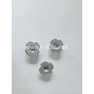Zinc plated Four shackles Furniture nuts