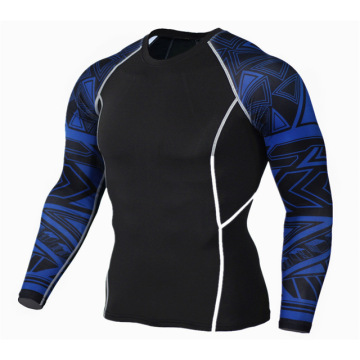 High Quality Sublimation Anti Pilling Polyester Men Rash Guard Long Sleeve