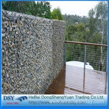 welded gabion box for stone retaining wall