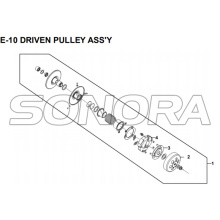 E-10 DRIVEN PULLEY ASSY for XS175T SYMPHONY ST 200i Spare Part Top Quality