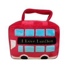 Christmas door stopper with sightseeing bus pattern