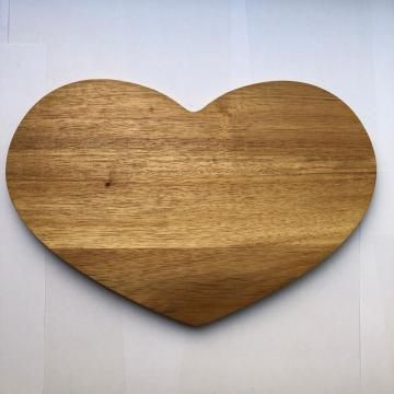 Heart shaped wooden choping board