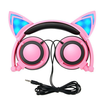 LED Light Up Cat Headphone Para Crianças Headsets