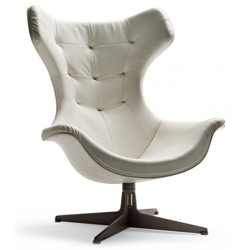 Contemporary swivel armchair REGINA II chair