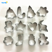 Good Quality Cnc Router price for Gingerbread Man Cookie Cutter Metal 12pcs Cookie Biscuit Cutter Set Christmas supply to Armenia Manufacturer