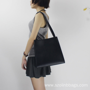 Classic Black OL Shoulder Bag Top-handle Handbag