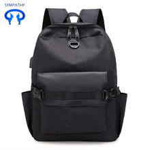 The new waterproof nylon backpack with USB charging