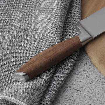 5 INCH SANTOKU KNIFE WITH WALNUT HANDLE