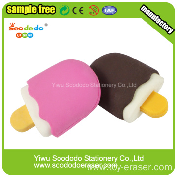 Mini Popsicle Shaped Eraser Colorful Cute Erasers