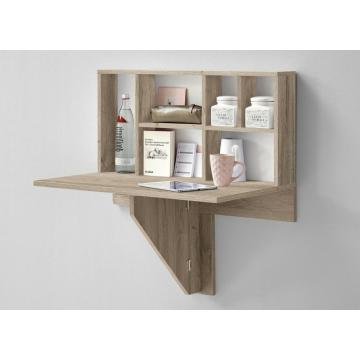 MDF Wooden Floating Wall Shelf for Storage with Desk