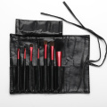 7 Red metal pipe make up brushes