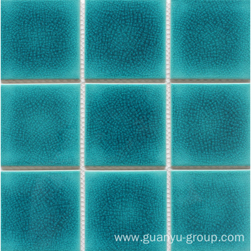 Porcelain Glazed Split Swimming Pool Series Mosaic Tile