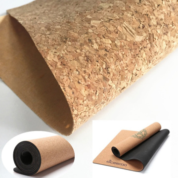 Printing Cork Design Soft Leather for Yoga Mat