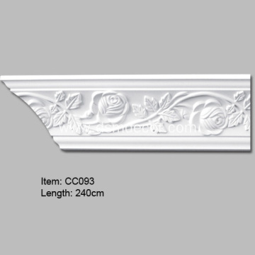 Crown Molding Trim with Rose Design