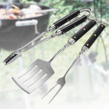 High-end 3PCS Bakelite Handle BBQ Tools Set