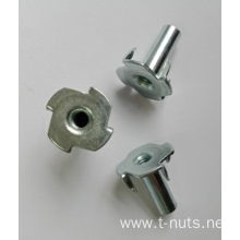 Full thread Zinc Plating 4 Prongs Tee nuts