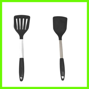 Black Silicone Spatula Turner With Stainless Stainless