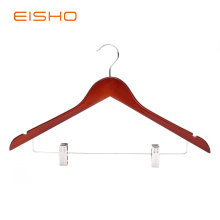 Wooden Suit Hangers With Clips EWH0052-P66