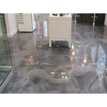 Clear Epoxy On Shop Floor