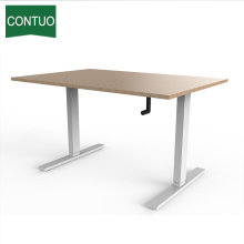 Manufacturer for Hand Crank Desk Height Adjustable Standing Crank Office Desks For Custom supply to Dominica Factory