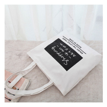 Printed custom canvas zipper bag