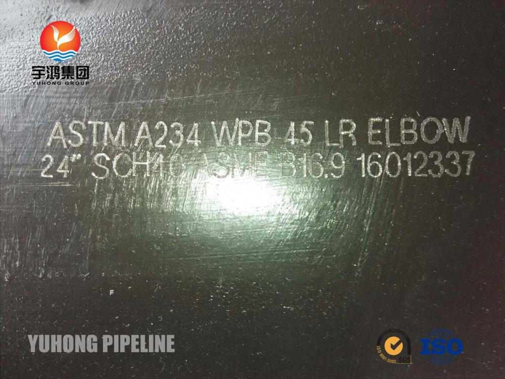 "Butt Weld Fitting , ASTM A234 WPB ,90DEG. ELBOW , LR , 1"" SCH40 BW B16.9 , Black Painting"