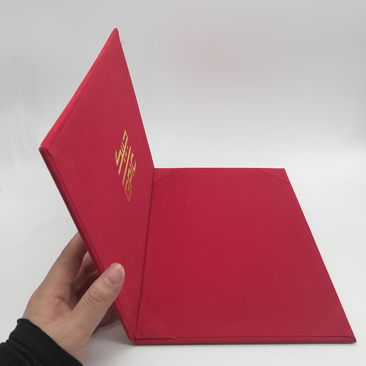 Red Menu Cover